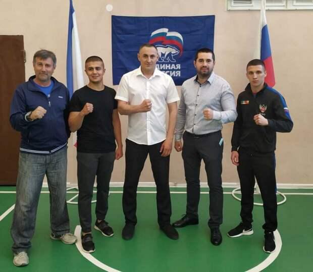 На базе Мазанской школы состоялась открытая тренировка с Чемпионом по олимпийскому виду спорта «Бокс»