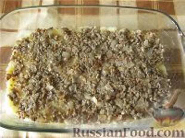 Фото приготовления рецепта: Картофельная запеканка с грибами постная - шаг №5