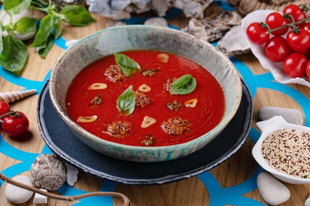 Томатный суп с дымком