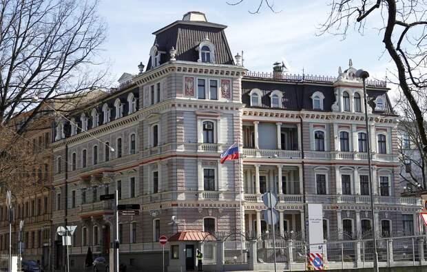 Посольство РФ в Латвии EPA-EFE/Toms Kalnins