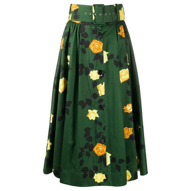 Этой весной носите яркие юбки с базовыми трикотажными топами