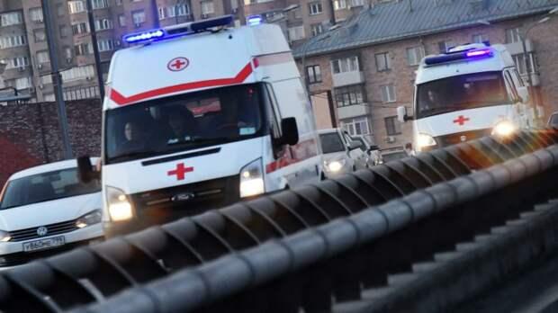 В центре Москвы автобус сбил пешехода