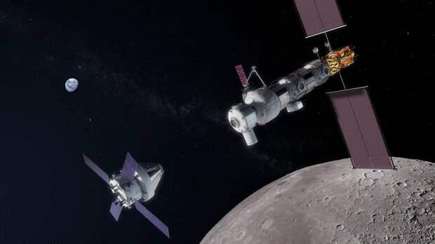 Космический корабль Orion готовится к посадке на лунную орбитальную платформу-шлюз, 2020-й год