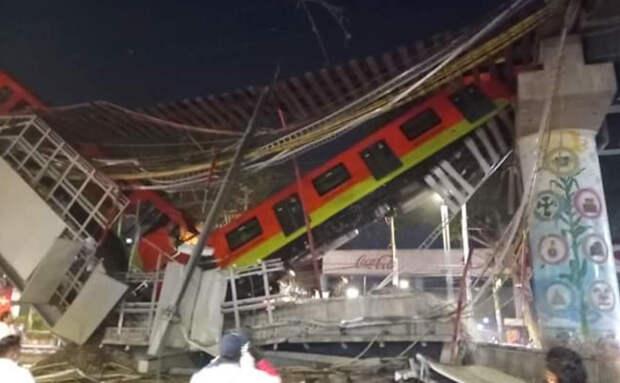 При крушении метромоста в Мехико погибли 15 человек