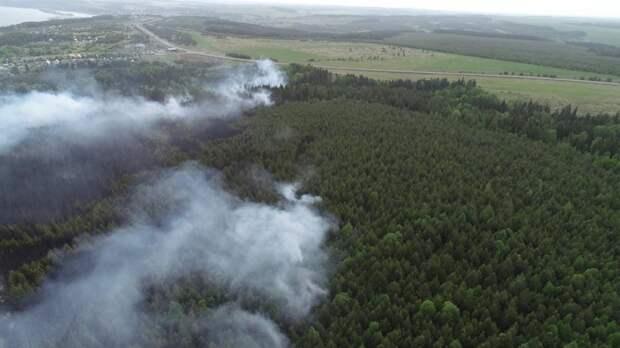 При пожаре в Удмуртии пострадала особо охраняемая природная территория