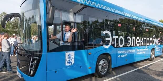 Через Лосинку по маршруту №909 начали ходить электробусы