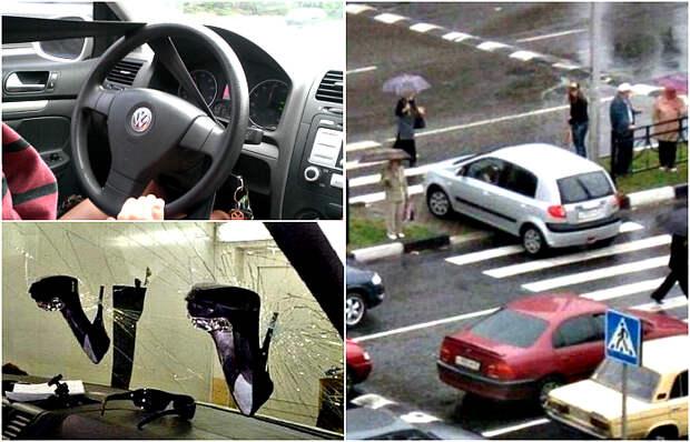 Курьезные снимки о девушках за рулем.
