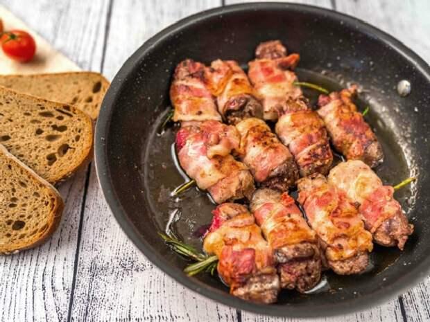 Куриная печень в беконе. \ Фото: google.com.