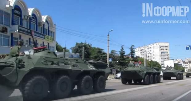 Бронетранспортеры на улицах Севастополя (фото, видео)