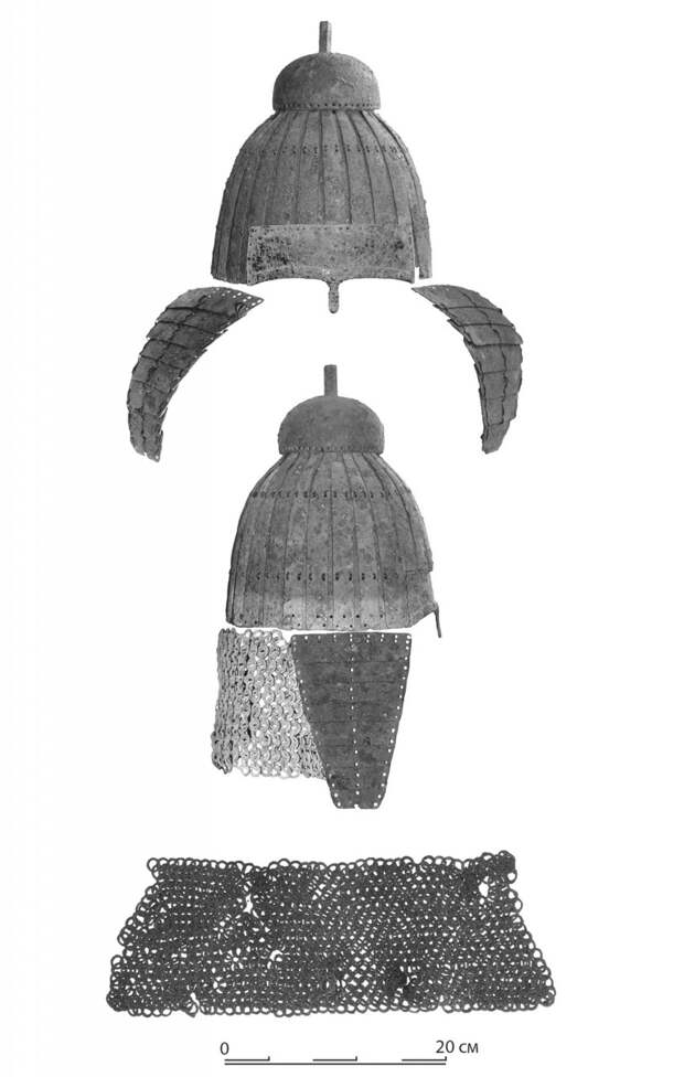 Ламеллярный шлем эпохи переселения народов из Курской области