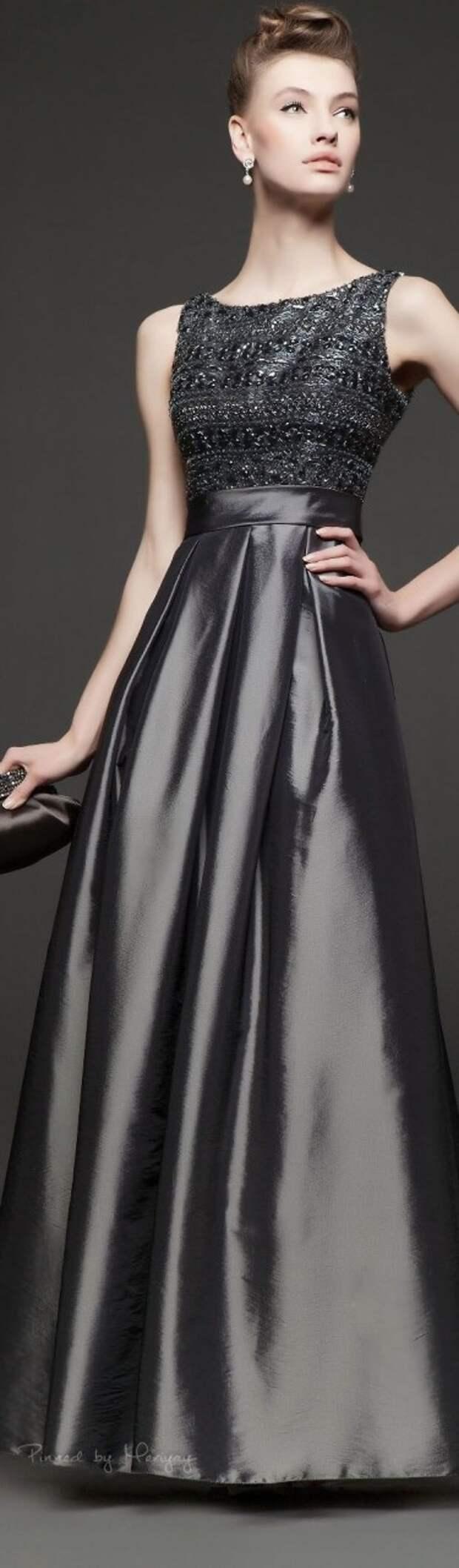 Длинные платья для невысоких часть 1