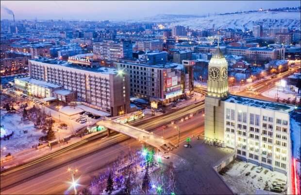 Жемчужина Сибири: неземной Красноярск с высоты птичьего полёта