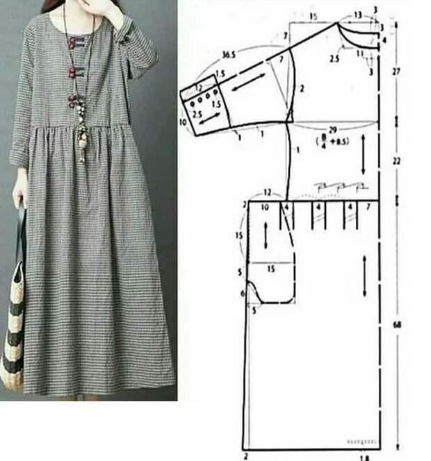 Широк платье в стиле бохо выкройка