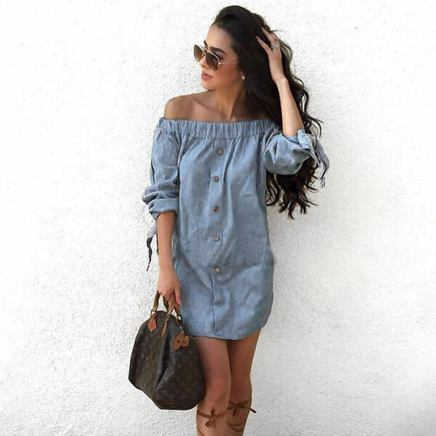 Стильные джинсовые платья, в которых Вы всегда будете в тренде