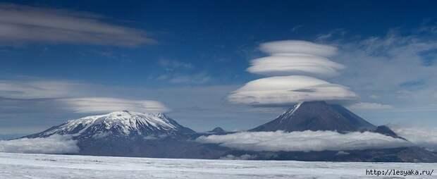 Такого вы еще не видели! Лентикулярные облака Камчатки!