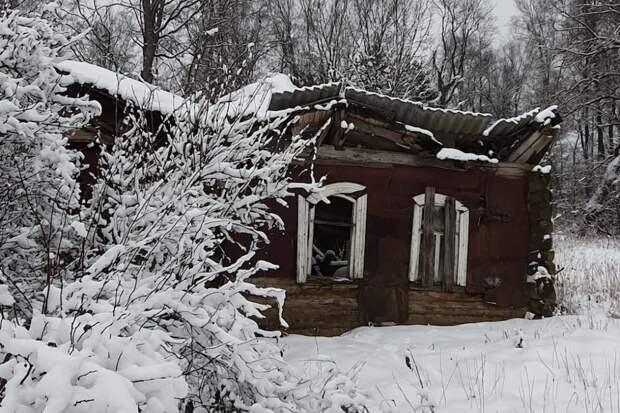 Один из брошенных домов в Милюкове. / Артем Локалов