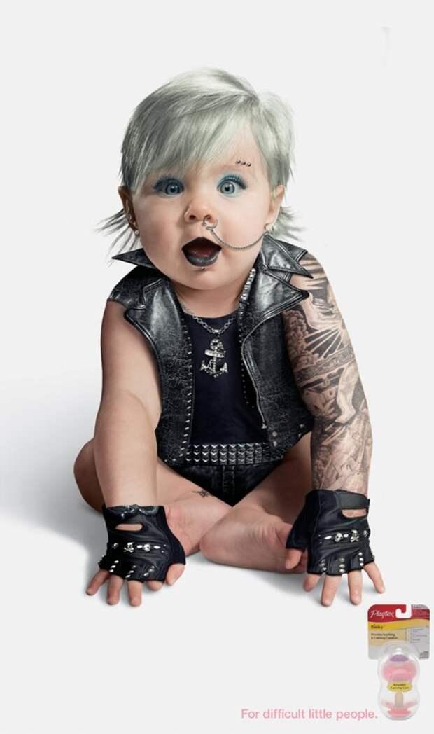 Punk Girl, Playtex, Grey Healthy People, Печатная реклама