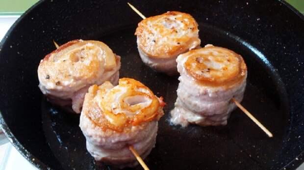 Шашлычки-улитки из курицы: очень сочное мясо порадует всех