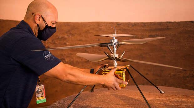 Вертолёт NASA совершил полёт над Марсом