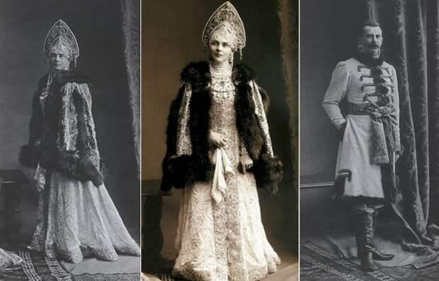 Зинаида Юсупова с мужем на последнем костюмированном балу империи, 1903   Фото: liveinternet.ru