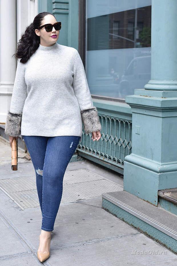 Модница с пышными формами Tanesha Awasthi: осенние аутфиты 2018