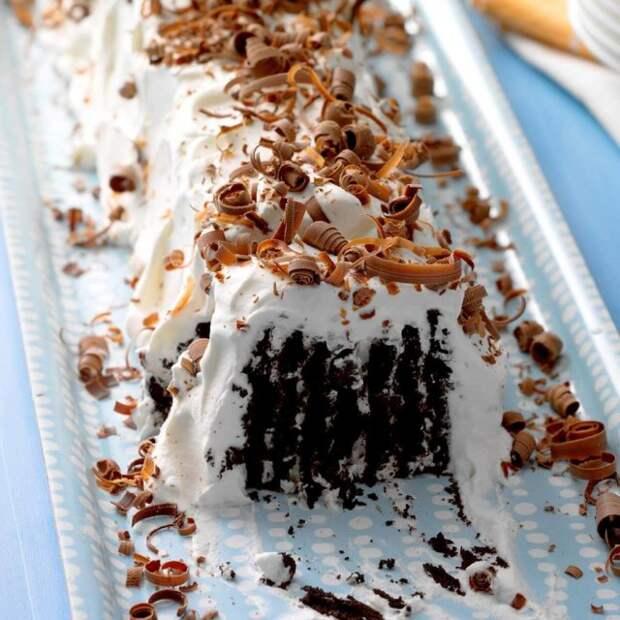 Вафельно-сливочный десерт