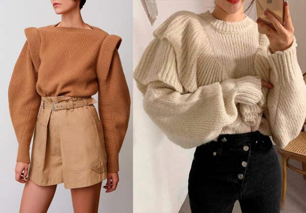 Остромодные свитера 2021: разберём, что носить худым и полным женщинам
