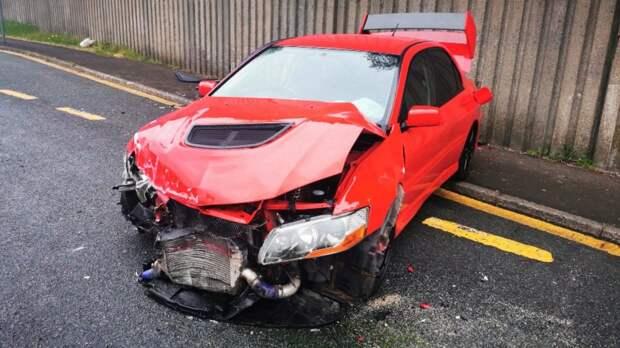 Выигравший Mitsubishi Lancer Evolution разбил его на следующий день