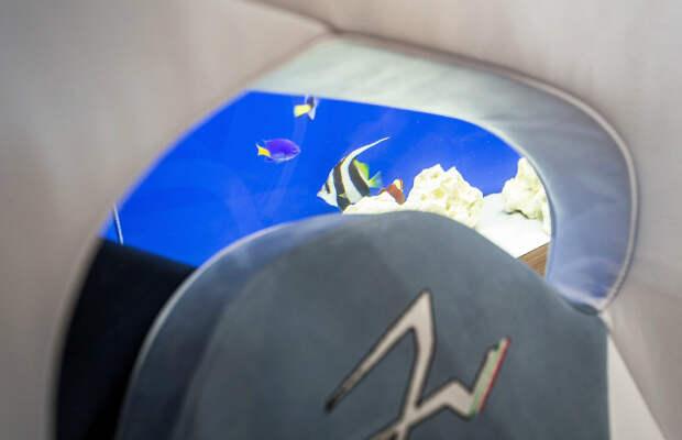 Четырехместный гиперкар с аквариумом