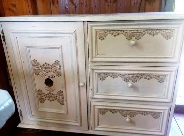 Обновление кухонной мебели с помощью декупажа. Фото Марины