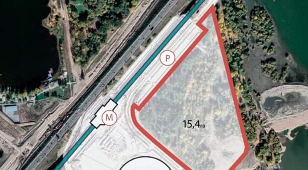 Областные власти выделили почти 500 миллионов на парк возле новой ледовой арены в Новосибирске