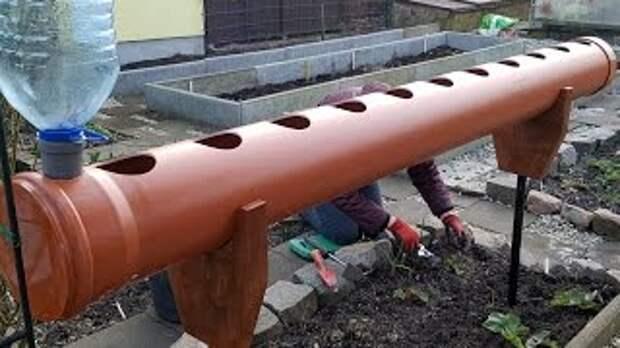 Грядки для клубники из труб ПВХ
