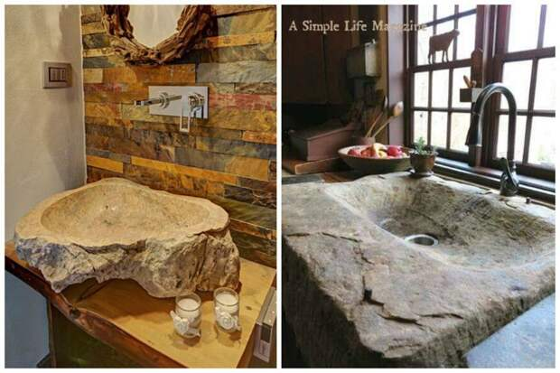 Какие раковины!!! Фабрика идей, дизайн, дом, интерьер, камни, красота