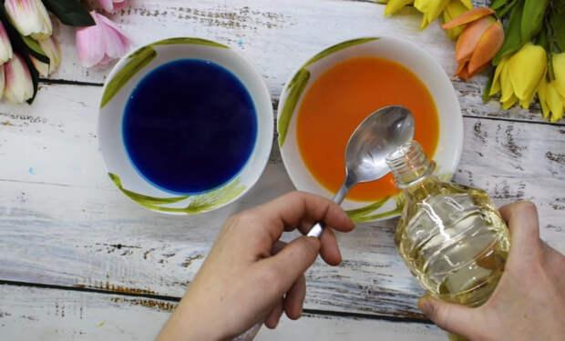 Секретный ингредиент + пищевой краситель: завораживающая красота пасхальных яиц