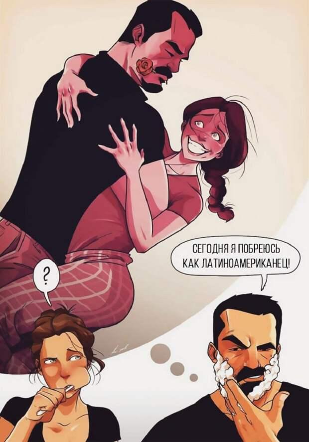 34 правдивые иллюстрации о том, каково это — жить с женщиной.