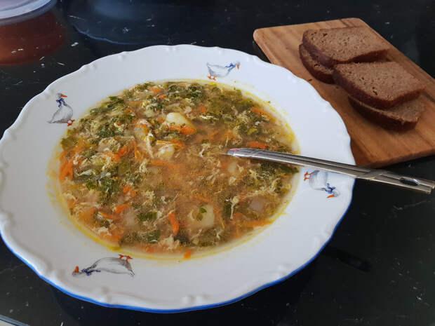 Суп с крапивой и щавелем от Деда