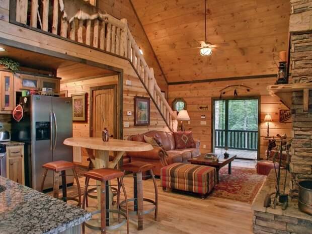 Внутренняя отделка дома из бревен: разработка проектов, примеры с фото, оригинальные идеи дизайна и выбор стиля дома