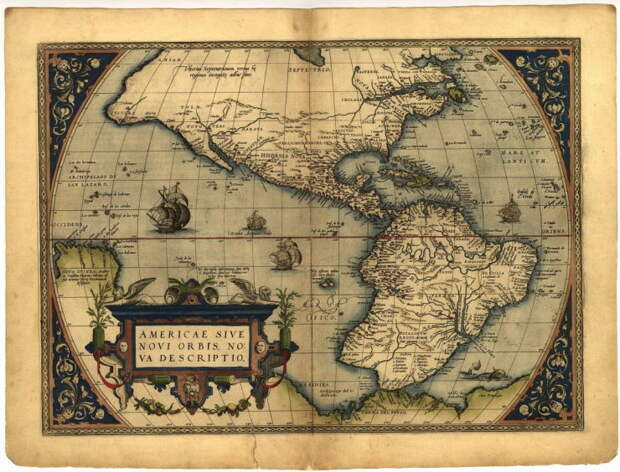 Карты 1570 года.