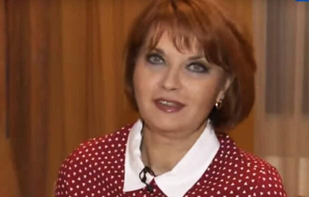 """Людмила Шевель, (кадр из программы """"Привет, Андрей"""")"""