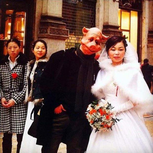 Невеста и свинья.