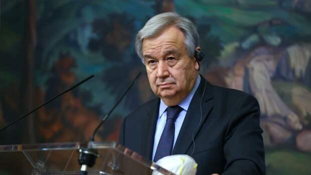 Генсек ООН высказался о палестино-израильском конфликте и назвал решение