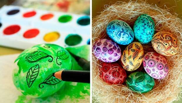 Можно ли красить яйца акриловыми красками и гуашью?