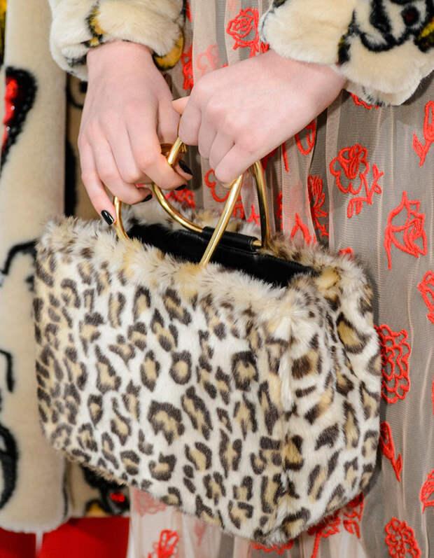 Меховая женская сумка