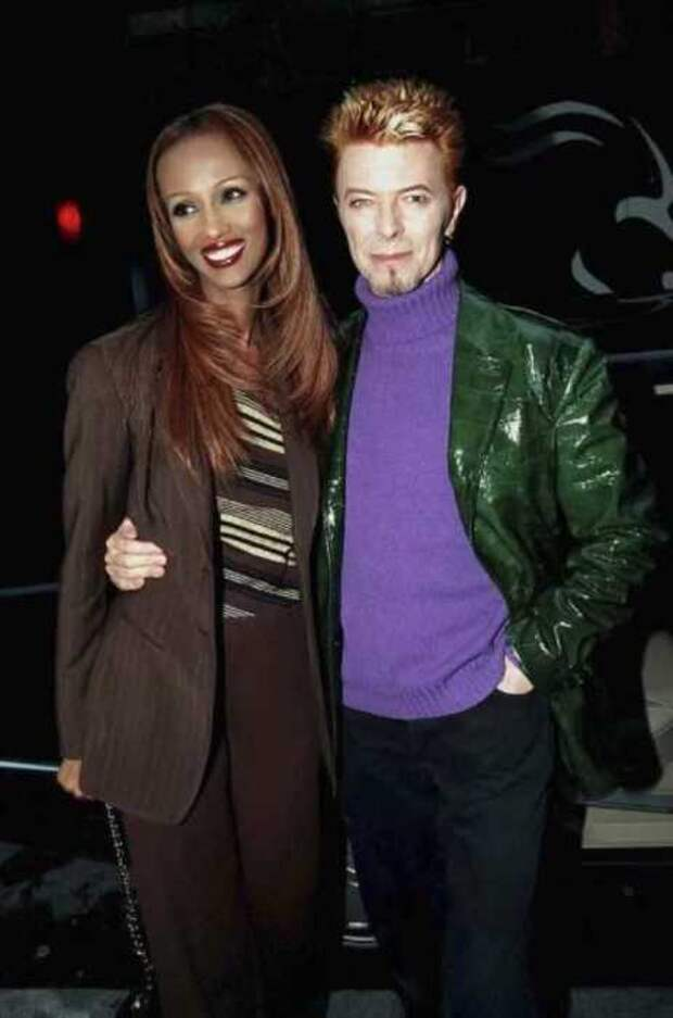 Дэвид Боуи со своей женой Имам, 1997 год.