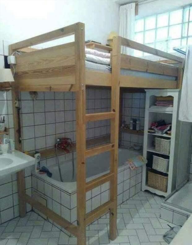 Спальня в ванной