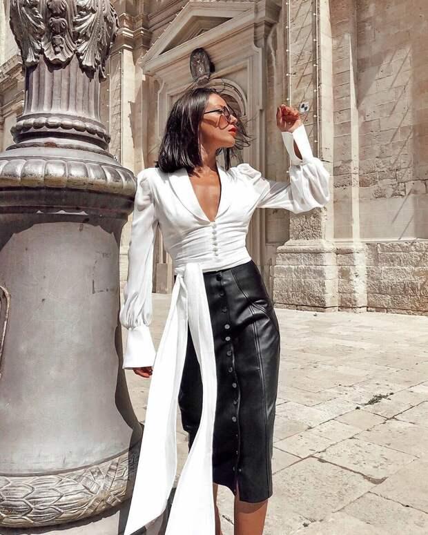 Какой верх подобрать к юбке-карандаш: 18 стильных примеров для прекрасных модниц