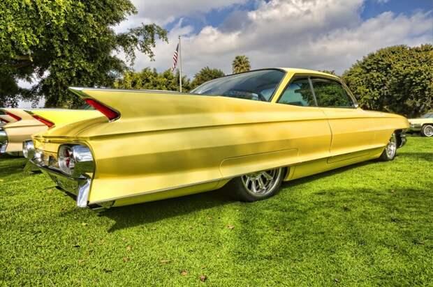 1961 Cadillac Coupe de Ville автомир, интересное, красота, плавниковый стиль, факты