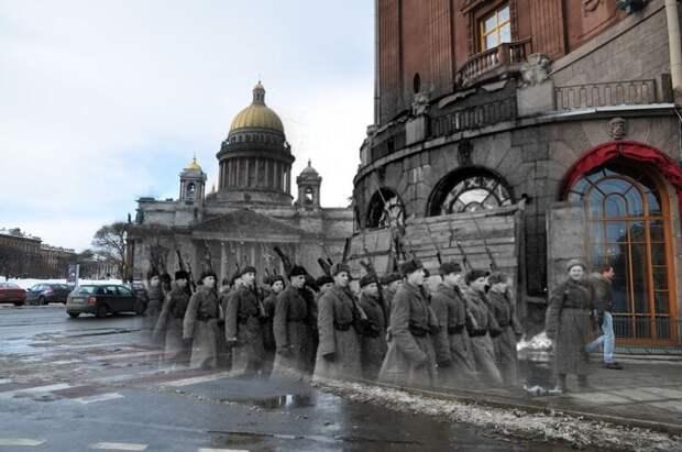 Ленинград 1941-2010 Исаакиевская площадь. Астория блокада, ленинград, победа