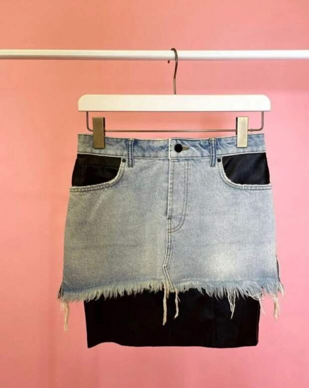юбка из джинсов своими руками как у  Alexander Wang