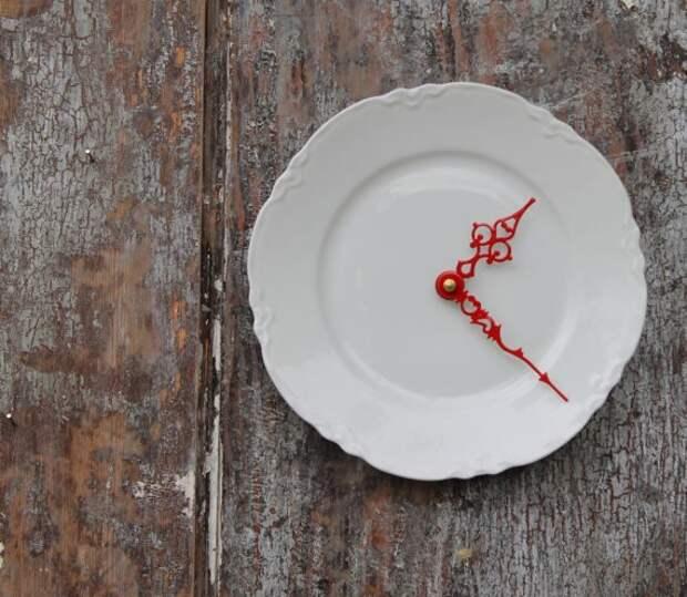 Часы из тарелки.